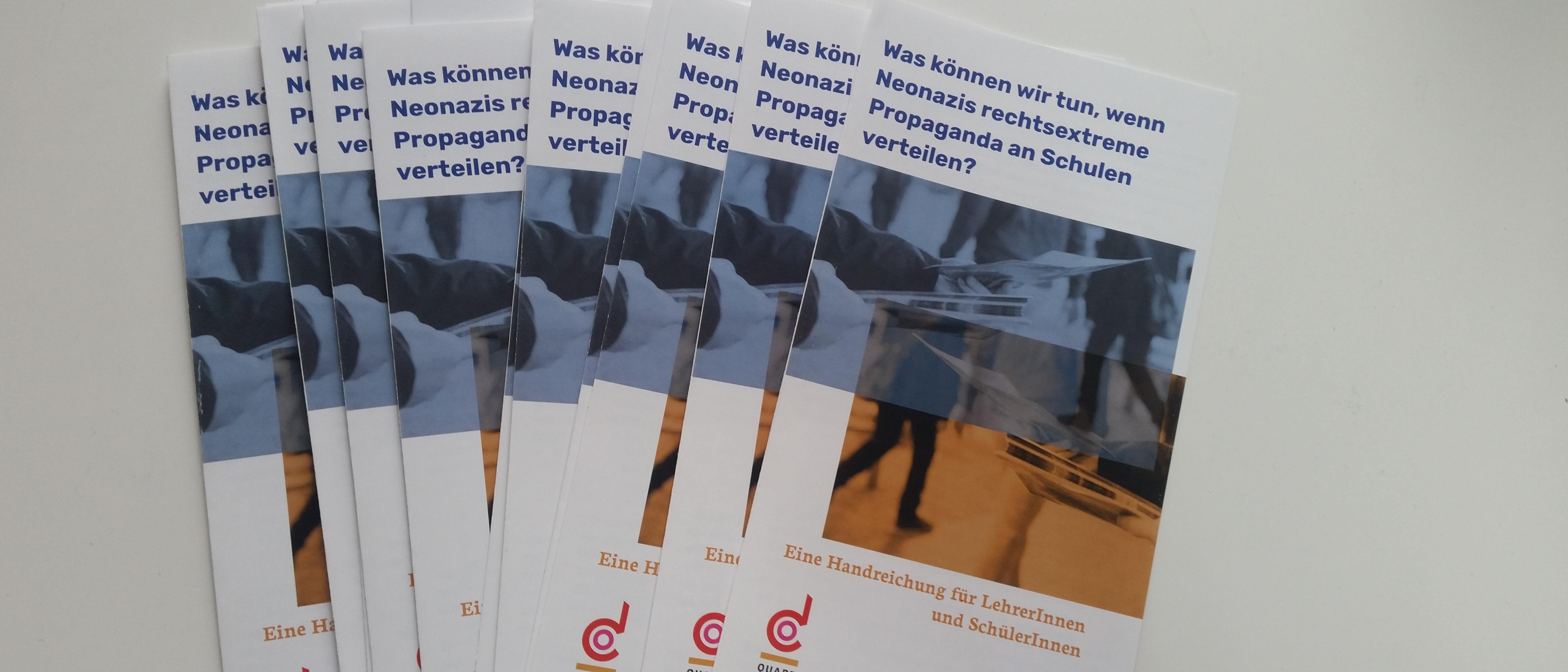 Handreichung zum Umgang mit rechtsextremer Propaganda an Schulen veröffentlicht